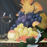 50x40 cm Stillleben Wein
