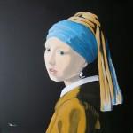 50x50 cm Das Mädchen mit dem Perlenohrring