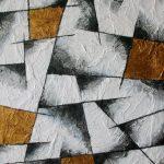 Goldbronze-schwarz-weiß