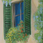 Blumen am Fenster 3 70x30