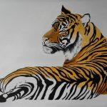 Tiger liegend 50x70 cm