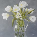 Weiße Tulpen 40x40 cm