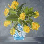 Gelbe Tulpen 40x40 cm