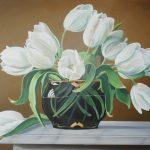 Weiße Tulpen 50x70 cm