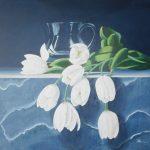 Tulpen vor Glasvase 50x50