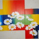 Blumencollage 3 90x170 cm